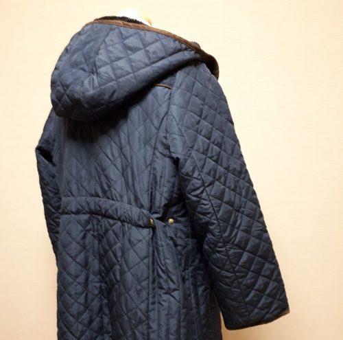 裏ボア使い中わたキルトジャケットコート バック